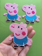 "1 pcs Peppa Pig Patch embroidery  SEW/IRON on around 3""x 2"