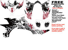 DFR FOLD GRAPHIC KIT WHITE/RED SIDES/FENDERS YAMAHA YFZ450 YFZ 450