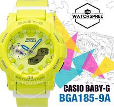 Casio Baby-g Clean Color Series Yellow Watch Analog Digital Female Runner Bga185