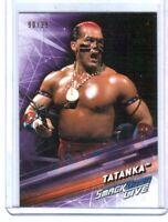 WWE Tatanka #88 2019 Topps SmackDown Purple Parallel Card SN 90 of 99