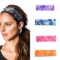 Stirnband Yoga Basketball Gym Sport Stretch Tie-gefärbtes Schweißhaarband Neu