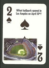 Dodger Stadium Los Angeles Opens 1962 Neat Playing Card #2Y6