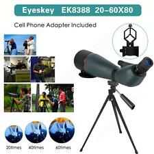Spotting Scope Angled Waterproof Hunt 20-60x80 w/Phone Adaptor Nature Watching