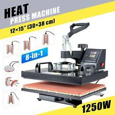 8 in 1 Heat Press Machine Digital Transfer Sublimation 30×38cm Printer T shirt