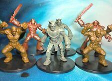 Dungeons & Dragons Miniatures Lot  Stone Golem Clay Golem Iron Golem !!  s116