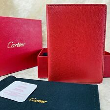 Authentic Cartier Passport Cover Card Holder Bordeaux Leather Novelty Item (NEW)