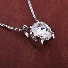 Round Cut 6.5mm Moissanite Pendant Necklace, 1.00ct DEW,Women Pendant VVS1