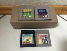 Nintendo Game Boy (Gameboy) 4x Spiele Sammlung - Module funktionsfähig