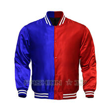 New Mens Satin Jacket Supreme Quality Baseball Letterman Sports Varsity Jacket