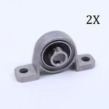 2Pcs Zinc Alloy Diameter 8mm Bore Ball Bearing Pillow Block Mounted KP08 Model
