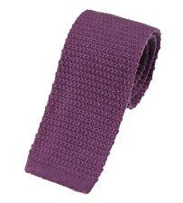 Men's Plain Lilac Wool Knitted Tie (U102/34)