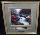 Original 1996 Thomas Kinkade Print Beside Still Waters Framed w/COA