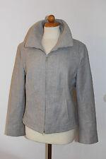 Rene Lezard Blazer Jacke grau mit Reissverschluss Größe 40 / L  (S46)