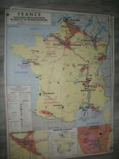 CARTE ANCIENNE SCOLAIRE GEOGRAPHIE MDI FRANCE