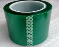 "Powder Coating Coat Paint - 3"" x 72 YDS - 2 Mil Green High Temp Masking Tape"
