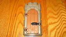 "Playmobil Castle Curved Stone Wall Arched ""Wood"" Prison Door Opening Latch Lock"