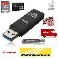 Memory Card Reader 2 in 1 Windows /MAC New USB 3.0 High Speed Micro SDXC SD TF