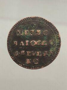 Etats Papaux. Pio VI (1755–1799) 1/2 Demi Baiocco San Severino