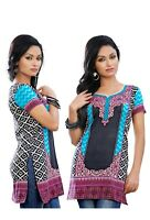 Women Fashion Indian Short Kurti Tunic Kurta Printed Top Shirt Dress 107A
