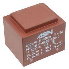 0-15v 0-15v 2.3va 230v ENCAPSULADO PCB Transformador