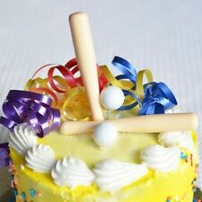 Baseball Bats and Balls Cake Topper Cupcake Decoration- 6 sets