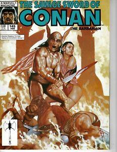 Savage Sword of Conan magazine #145 February 1988 Very Fine cond