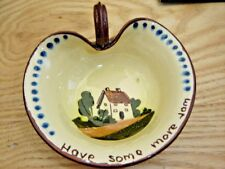 BROWN POTTERY HAVE SOME MORE JAM, HANDLED DISH