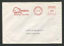 FRANCE FREISTEMPEL 1973 BRIEF COVER CONFORAMA BISON WISENT BUFALLO 60710
