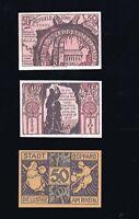 2x  Notgeld Gutschein derStadt  BOPPARD 1921  25 + 2x 50  Pf