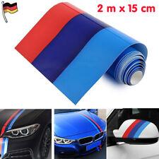 2m M-Colored Auto Streifen Stripes Flagge Aufkleber Sticker Motorhaube für BMW