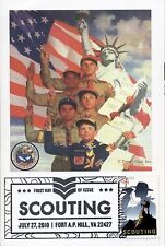 BOY SCOUTS & CUB SCOUT on 2010 BOY SCOUTING 4x6 First Day Cover Card (C)