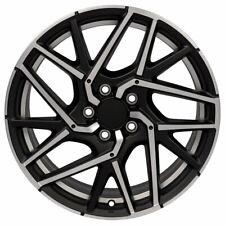 New 18x8 Satin Black Machined Rim For Honda Civic Hollander 64107