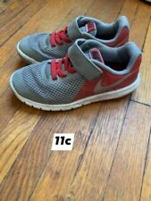 size 11c boys nike shoes Grey and Red