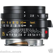 Brand New Unused Leica SUMMICRON-M 35mm F2 f/2 ASPH. 6-Bit Black M 240 M9 11673