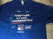 NY RANGERS T SHIRT SGA OPENING NIGHT 2018 TOGETHER WE ARE RANGERSTOWN MSG HOCKEY