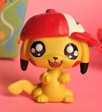 Littlest Pet Shop Pokemon Pikachu w/ Ash hat ooak custom figure Hand painted LPS