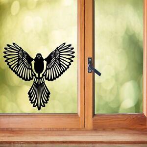 Hawk in flight vinyl decal sticker- decoration wall art window sticker bird gift