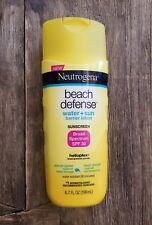 NEW Neutrogena Beach Defense Lotion Sunscreen SPF 30 6.7oz