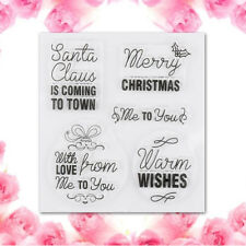 Clear Sheet Merry Christmas Transparent Stamps Silicone Rubber Scrapbooking