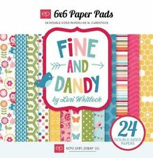 "ECHO PARK ""FINE AND DANDY"" 6X6 PAPER PAD FAMILY 24 SHEETS SCRAPJACK'S PLACE"