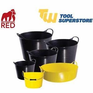Heavy Duty Builders Flexible Tub Flexi Garden Buckets Feeding Storage Bucket