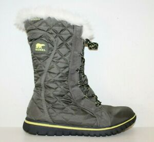 SOREL Cozy Cate Women's Waterproof Snow Boots Sz 8.5 Peat Moss quilted $140