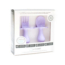GRABEASE   FIRST CUTLERY FOR BABY   FORK & SPOON SET   CUTLERY SET   LAVENDER
