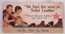Antique Advertising Card Star Brand Shoes Are Better Solid Leather Premium #1