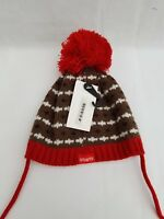 BARTS Beanie Hat for Kids Red Wool - SIZE 47cm