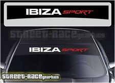 SS2206 Seat Ibiza Sport sunstrip graphics stickers decals windscreen sun-visor