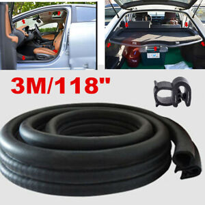 3M Seal Strip Car Door Hood Trunk Trim Edge Moulding Rubber Weatherstrip Black