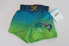 Oshkosh B'gosh Infant Boys 3-6M Blue Green Shark Swim Trunks Shorts Lined