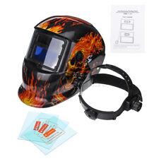 Solar Auto-Darkening Welding Helmet Grinding Welder Protective Helmet w/ 3 Lens
