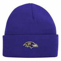 NWT NFL FOOTBALL BALTIMORE RAVENS Beanie Hat YOUTH ONE SIZE 8-20
